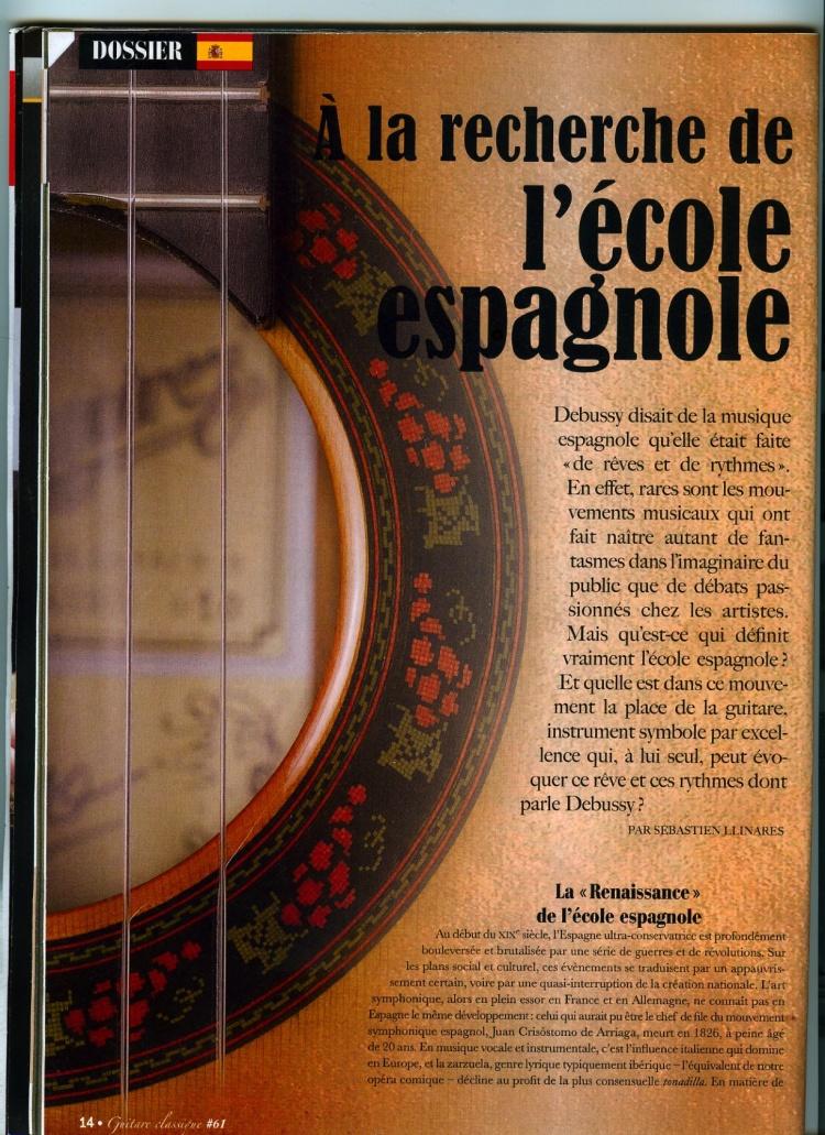 A la recherche de l'École Espagnole