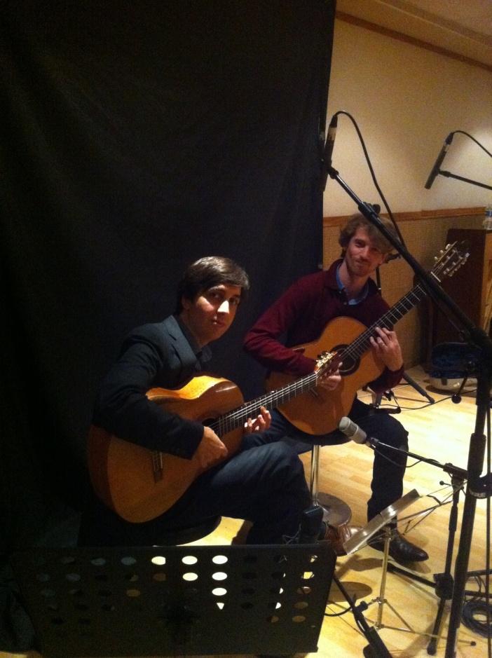 Le Duo Mélisande dans les studios de Guitare Classique Magazine
