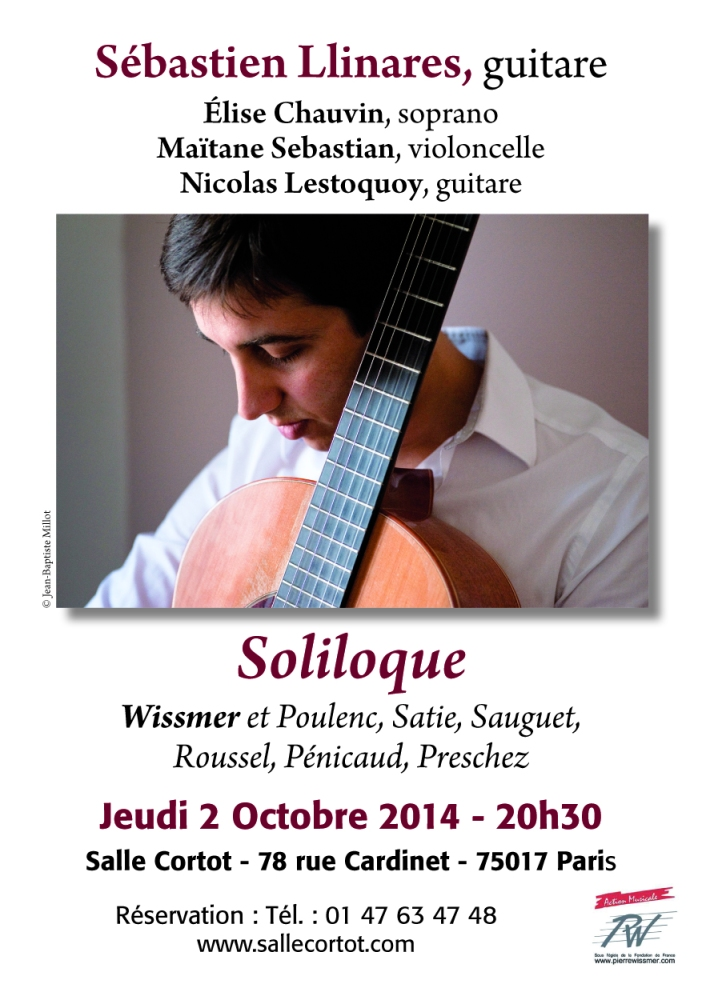 Le 2 octobre 2014, à 20h30, salle Cortot