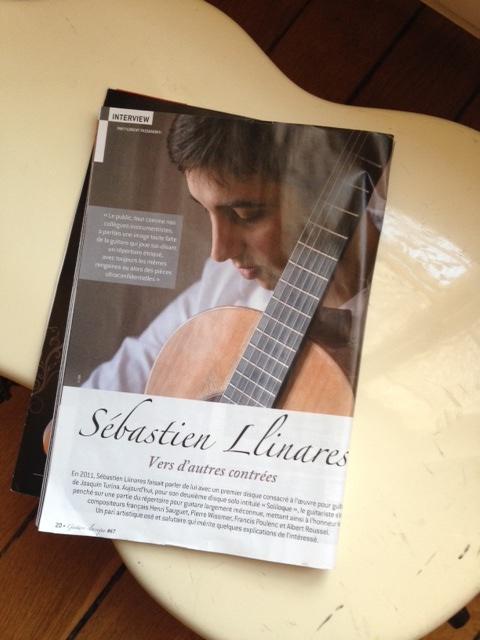 Sébastien Llinares dans Guitare Classique n°67