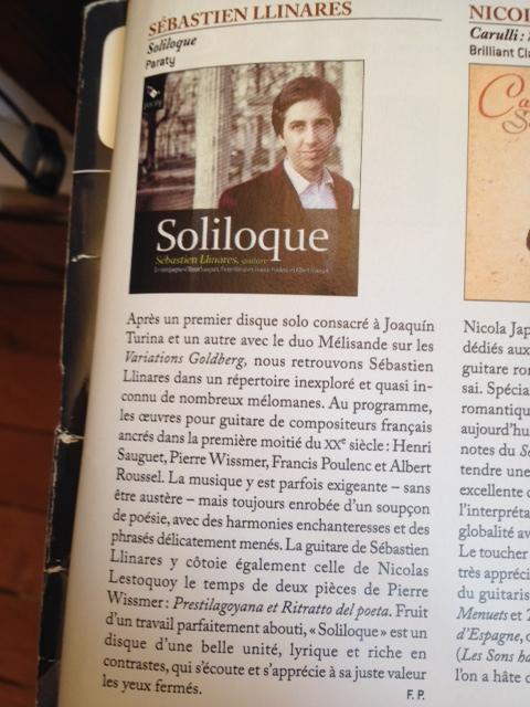 Chronique du disque Solliloque
