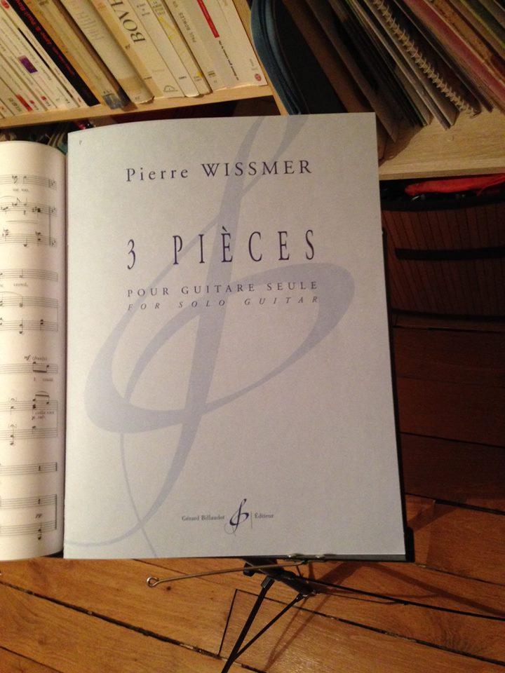 Trois pièces pour guitare seule_Wissmer