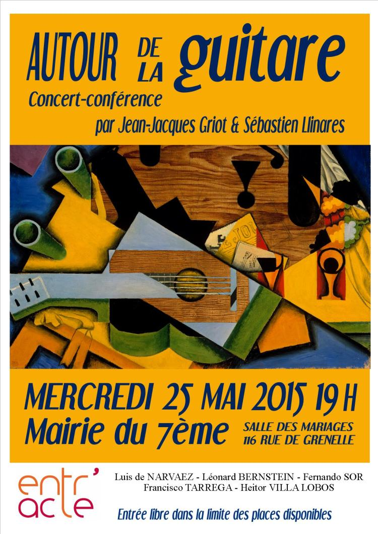 Concert conférence par Jean-Jacques Griot et Sébastien Llinares